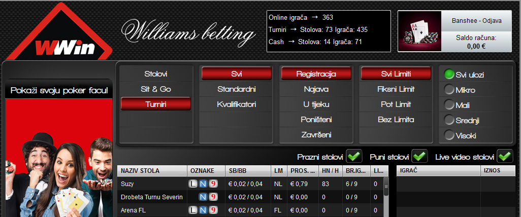 WWin poker turnament